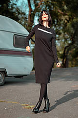 Šaty - FNDLK úpletové šaty 429 RuVdL midi - 11157046_