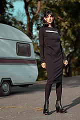 Šaty - FNDLK úpletové šaty 429 RuVdL midi - 11157047_