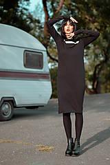 Šaty - FNDLK úpletové šaty 429 RuVdL midi - 11157048_