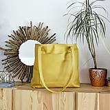 Kabelky - Nina so zipsom (kožená taška žltá) - 11157775_