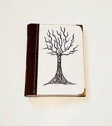 """Papiernictvo - Diár Ručne šitý KRESLENÝ * zápisník * sketchbook ,,Strom"""" A5 s koženým chrbtom - 11158809_"""