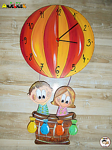 Hodiny - Hodiny balon - 11160729_