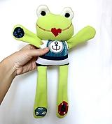 Hračky - Textilné zvieratko - Žabiak námorník - 11160625_