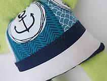 Hračky - Textilné zvieratko - Žabiak námorník - 11160631_