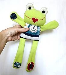 Hračky - Textilné zvieratko - Žabiak námorník - 11160622_
