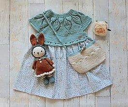 Detské oblečenie - Šatočky mätové (2-3 roky) - 11159508_