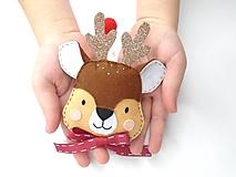 Dekorácie - Rozprávkové Vianoce (Jeleň trblietavý) - 11158661_