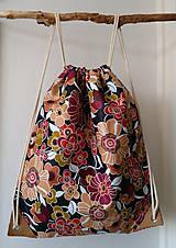- Látkový mestský batoh kvetiny - 11157727_