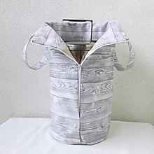 Iné tašky - Taška na obedár (sivá) - 11160648_