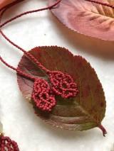 Náhrdelníky - Červený makramé náhrdelník s jaspisom - 11160122_