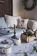 Úžitkový textil - Darčekové balenie vankúšov - huby - 11158710_