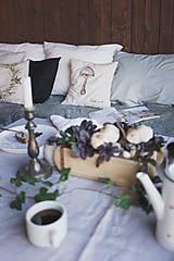 Úžitkový textil - Darčekové balenie vankúšov - huby - 11158711_