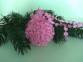 Dekorácie - Vianočná guľa s kvietkami II - 11157524_