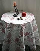 Úžitkový textil - Obrus. Luxusný vianočný adventný obrus. - 11158548_