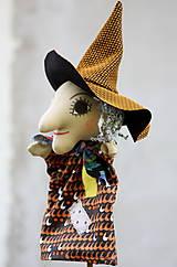 Hračky - Maňuška. Bábika Ježibaba Haraburda - 11158607_