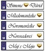 Tabuľky - Svadobná tabuľka na auto - špz 31 - 11158520_