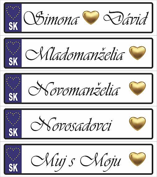 Svadobná tabuľka na auto - špz 31