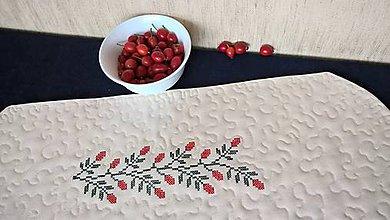 Úžitkový textil - Dečka Obloč - quilt a výšivka (vzor 570) - 11157146_