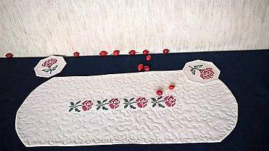 Úžitkový textil - Dečka Obloč - quilt a výšivka (vzor 569) - 11157157_