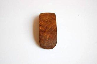 Ozdoby do vlasov - Drevená spona do vlasov - Orechová malá 1 - 11159544_