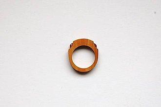 Prstene - Drevený prsteň 7 - 11159792_