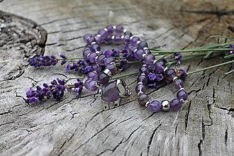 Náhrdelníky - Sloník Ametyst náhrdelník - 11159164_