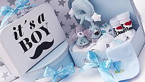 Detské doplnky - Plienková torta v kufríku Boy - 11159454_