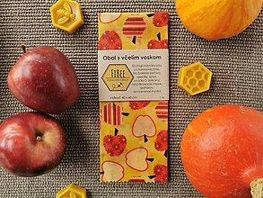 Úžitkový textil - Obrúsok s včelím voskom - jabĺčka - 11156887_