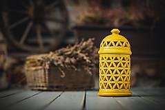 Svietidlá a sviečky - Aromalampa žlutá - KVĚT ŽIVOTA - 11158866_