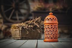 Svietidlá a sviečky - Aromalampa korálová - KVĚT ŽIVOTA - 11158885_