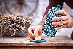 Svietidlá a sviečky - Aromalampa olivová - KVĚT ŽIVOTA - 11158911_