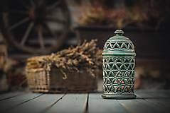 Svietidlá a sviečky - Aromalampa olivová - KVĚT ŽIVOTA - 11158913_