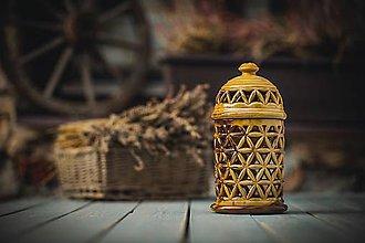 Svietidlá a sviečky - Aromalampa hnědá - KVĚT ŽIVOTA - 11158686_