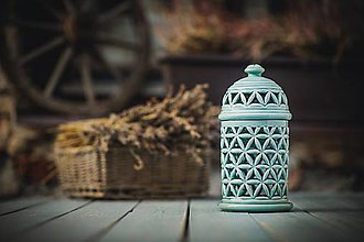 Svietidlá a sviečky - Aromalampa mint - KVĚT ŽIVOTA - 11158896_