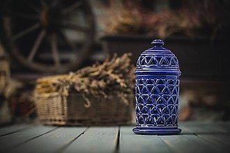 Svietidlá a sviečky - Aromalampa královská modř - KVĚT ŽIVOTA - 11158933_