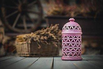 Svietidlá a sviečky - Aromalampa lila - KVĚT ŽIVOTA - 11158950_