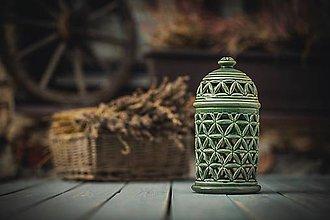 Svietidlá a sviečky - Aromalampa zelená - KVĚT ŽIVOTA - 11158960_
