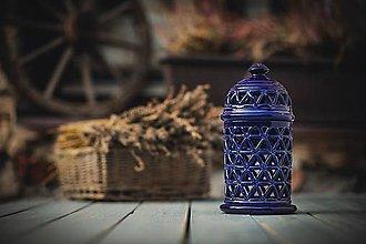 Svietidlá a sviečky - Aromalampa kobaltová - KVĚT ŽIVOTA - 11158972_