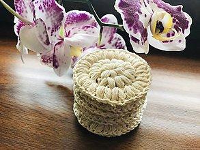 Úžitkový textil - Bella odlíčovacie tampóny smotanové - #zerowaste, 7ks/sada - 11157383_