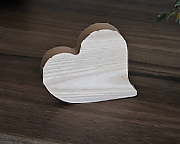 Polotovary - drevené srdiečko - 11159428_