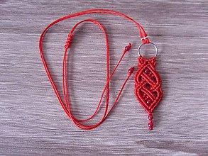 Náhrdelníky - Makramé náhrdelník viking červený - 11156915_