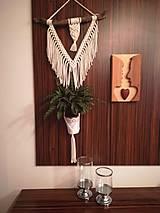 Nádoby - Macrame kvetináč na dreve - 11159673_