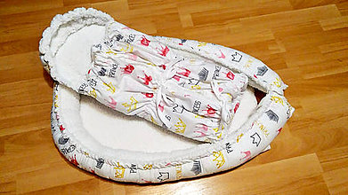 Textil - Zimné hniezdočko so zavinovačkou - 11160630_