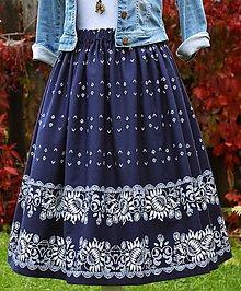 Sukne - Dámska sukňa - modrotlač / folk / ľudová - 11156590_