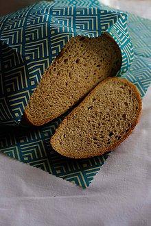 Úžitkový textil - Voskovaný obrúsok Voskáč - milovník chleba 53x43 cm (geometric) - 11157187_