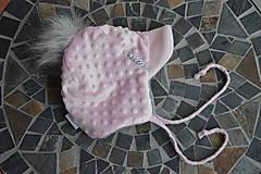 Detské čiapky - Zimná čiapka minky so šiltom - 11161058_