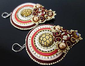 Náušnice - Kráľovské kruhové náušnice - 11160294_