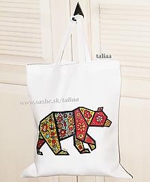 Nákupné tašky - Eko taška ♥ maľovaný MEDVEĎ - 11158963_