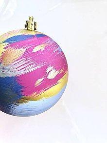 Dekorácie - Handmade vianočné gule - 11159185_