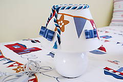 Svietidlá a sviečky - Dekoračná lampa do detskej izby biela - kolekcia Námorník - 11158281_